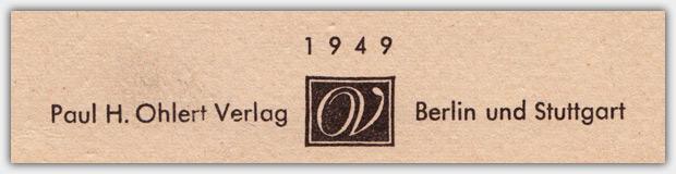 Paul H. Ohlert Verlag | Logo