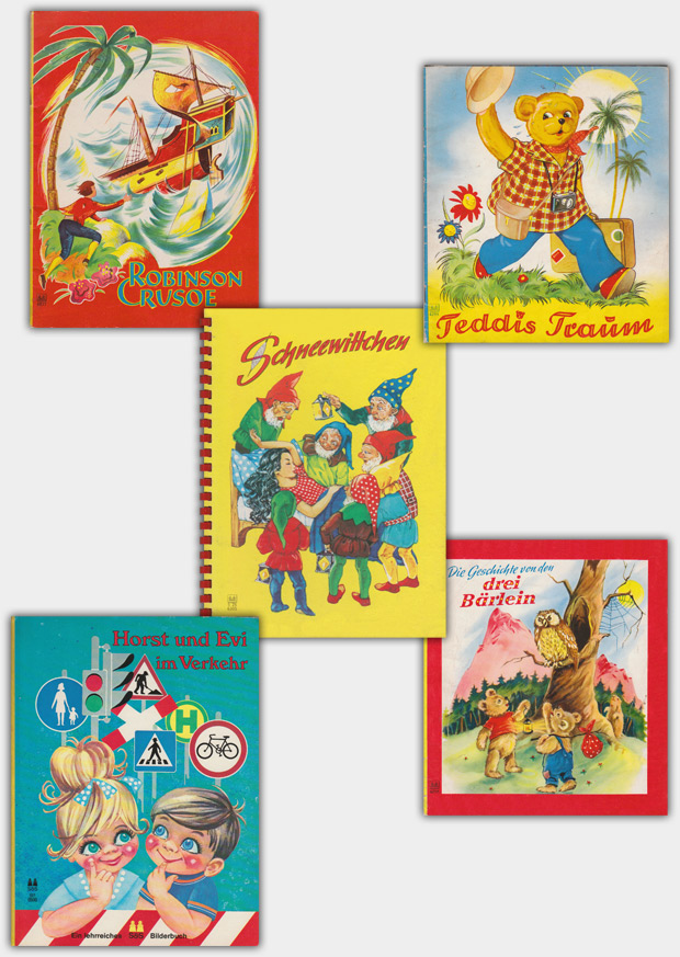 Publikationen aus dem Schwager & Steinlein Verlag, ca. 1950er bis 1970er Jahre
