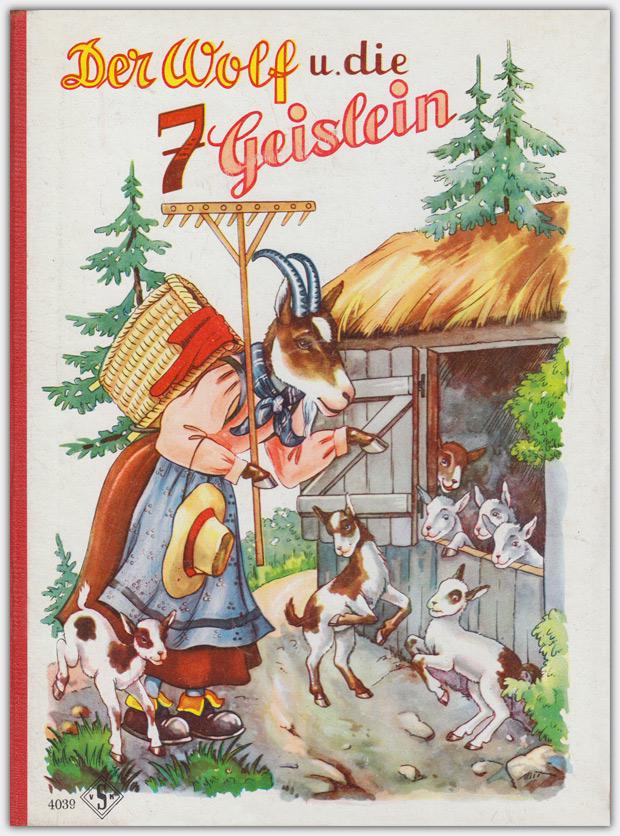Der Wolf u. die 7 Geislein | Vereinigte Kunstanstalten Senkeisen | Pappseitenbilderbuch