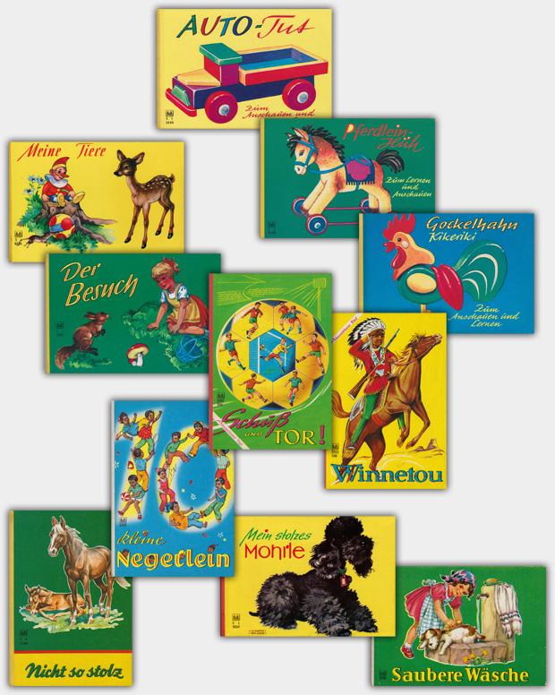 Pappbilderbücher im Format von ca. 13 x 19 cm
