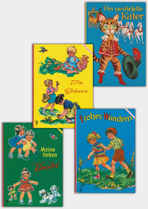 Pappbilderbücher im Format von ca. 26 x 19 cm