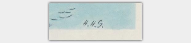 Signatur H.H.G. - Hanna Helwig-Goerke