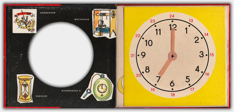 Die Uhr | 4. Auflage 1965 | Innenseite mit Uhr