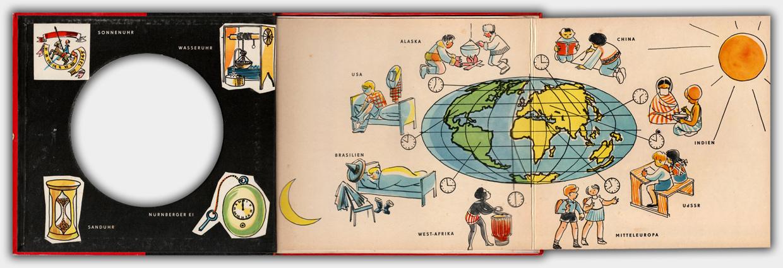 Die Uhr | 4. Auflage 1965 | Innenseite ausgeklappt