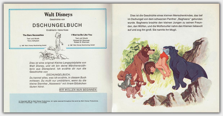 Walt Disneys Dschungel Buch | Innentitel