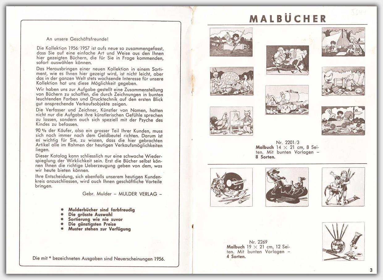 Mulder Katalog 1956 / 1957 | Seite 2 & 3