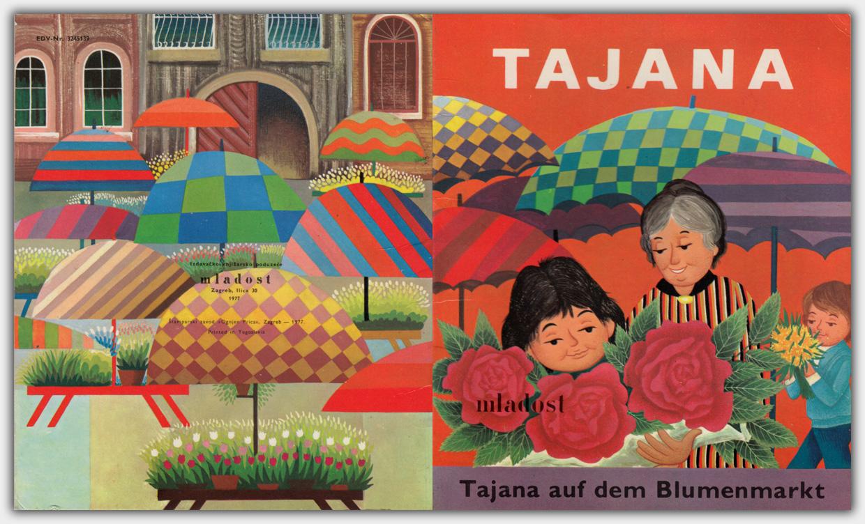 Tajana auf dem Blumenmarkt | Mladost Verlag, Zagreb, 1977
