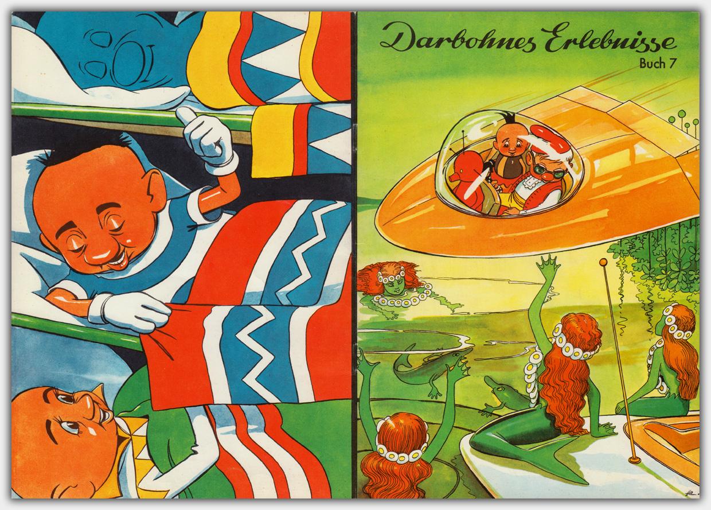 Darbohnes Erlebnisse Buch 7 - Titel und Rückseite mit unterschiedlicher Gestaltung