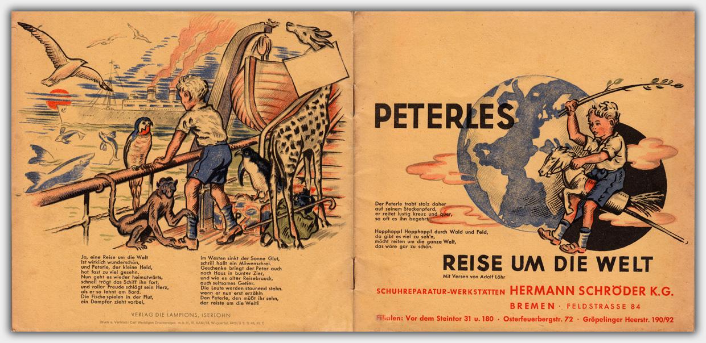 Peterles Reise um die Welt | Umschlag (Rückseite & Titel)