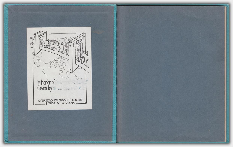Happy-Go-Lucky    Ex Libris im Vorsatz