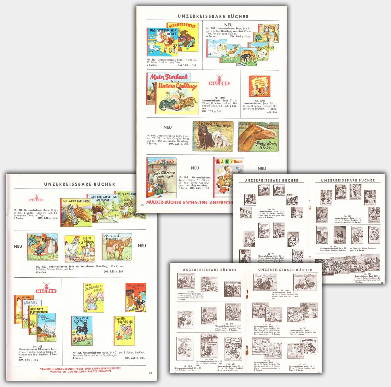 Unzerreissbare Bücher in den Mulder Katalogen von 1956/57 und 1960/61