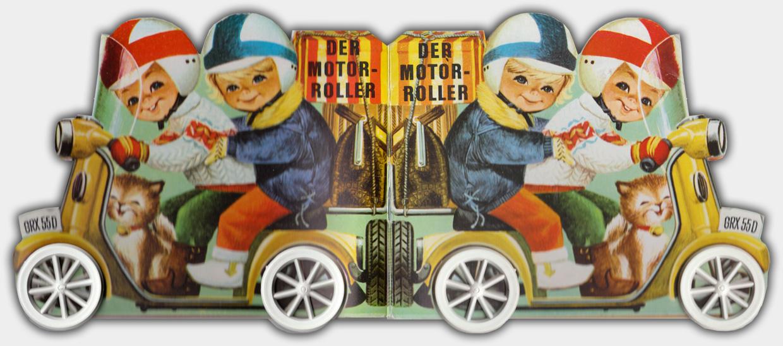 Der Motorroller | Lito-Kinderbücher ca. Anfang der 1970er Jahre | Umschlag