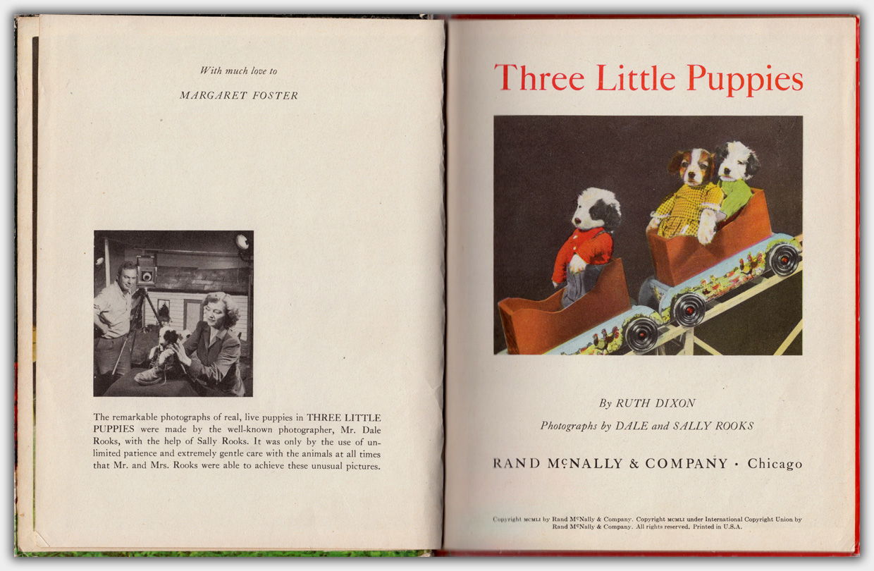 Elf Book 447 : Three Little Puppies | Innentitel, Auflage Februar 1952