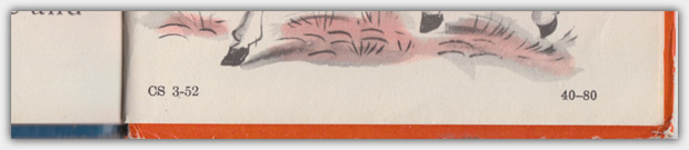 Rand McNally Junior Elf Book - Druckvermerke zum Druckdatum und empfohlenem Lesealter auf der letzten Seite