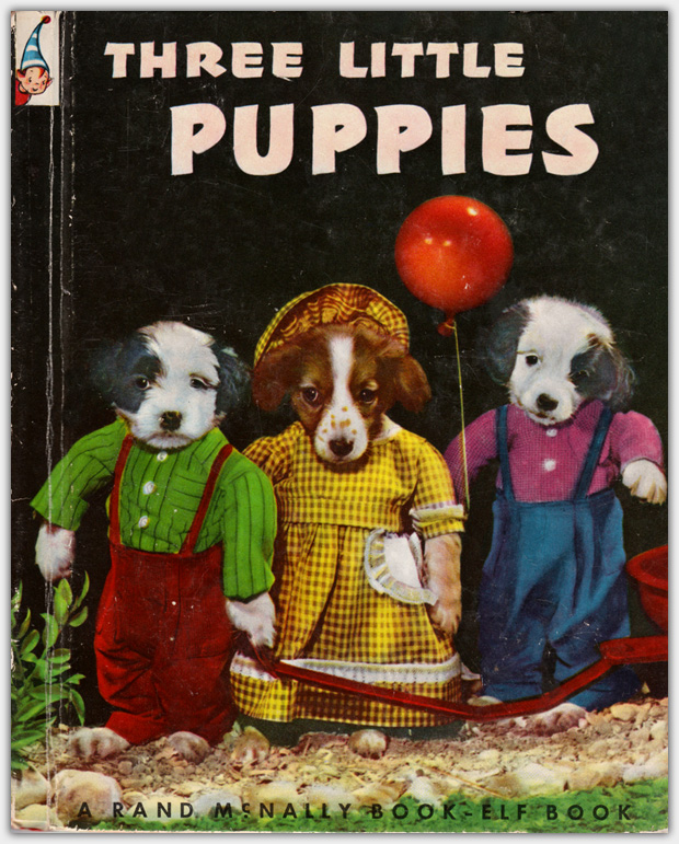 A Rand McNally Book - Elf Book 447 : Three Little Puppies | Auflage 1952