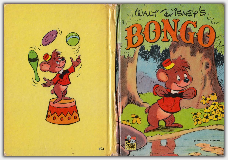 Walt Disney's Bongo | Whitman Story Hour Series No. 803 | Ausgabe 1948 | Hardcover-Umschlag