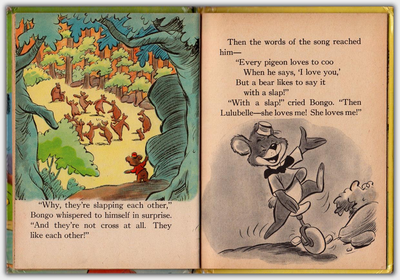 Walt Disney's Bongo | Beispielseite farbig / schwarzweiss