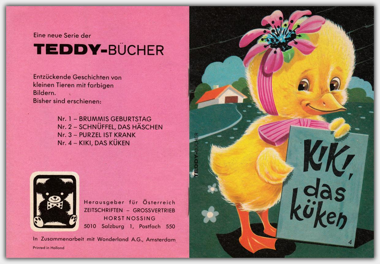 Teddy-Bücher | Umschlag Heft 4: Kiki, das Küken