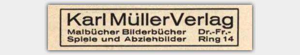 Karl Müller Verlag, Zwickau | Anzeige im Adressbuch Zwickau 1947